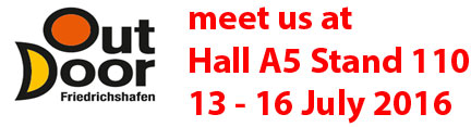 Visit us at Outdoor 2016 Hall A5 Stand 110